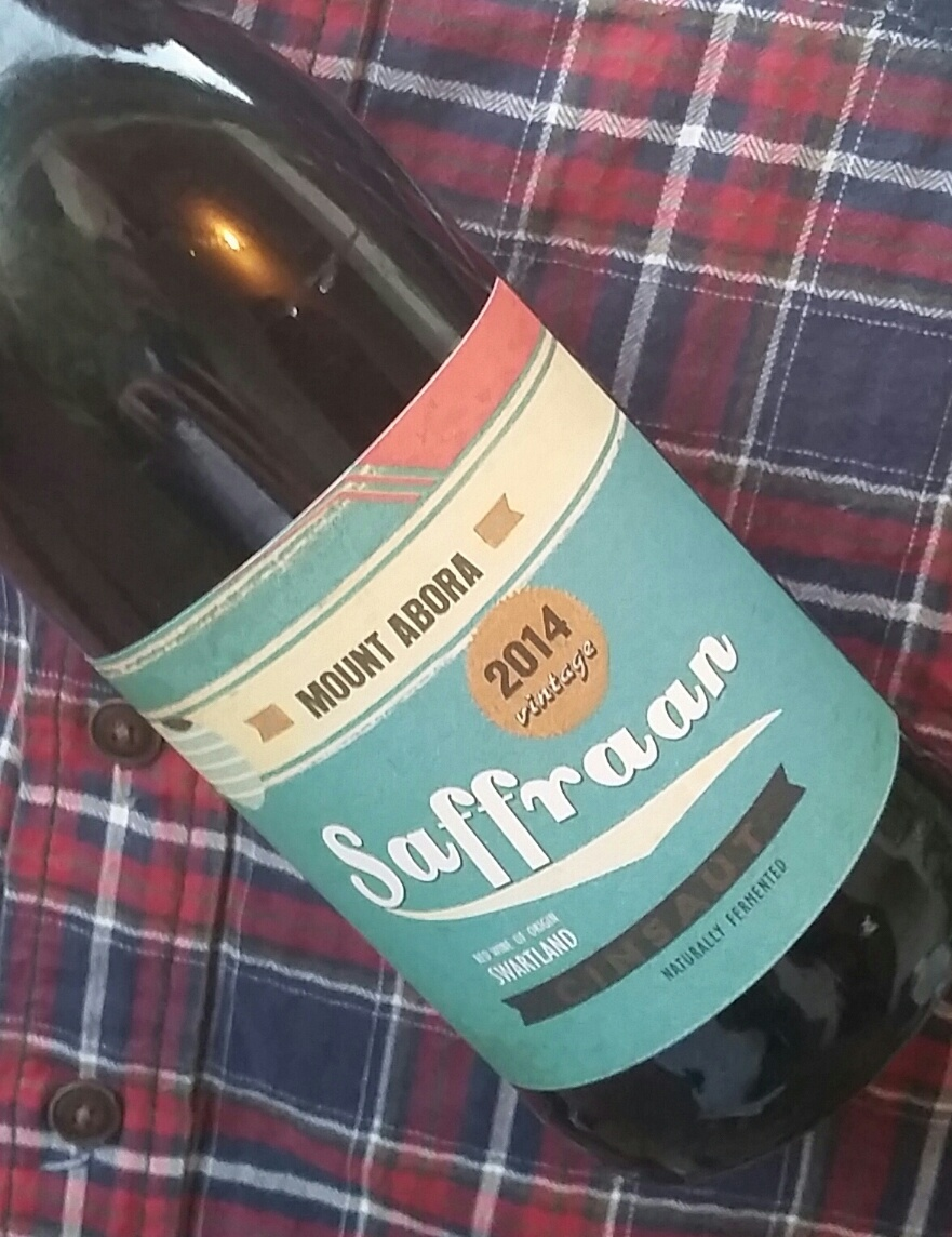 Saffraan Cinsaut - note hipster shirt in background.