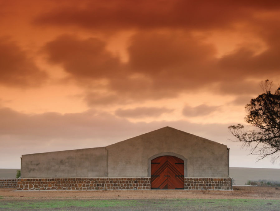 Big sky at Strandveld winery.