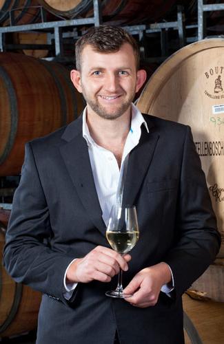 Winemaker Abraham de Villiers.