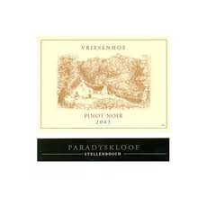 Vriesenhof, the wine for elk marrow.