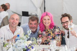 Pink lives: Higgo Jacobs, Emile Joubert, Natalie Roos and Simon Back.