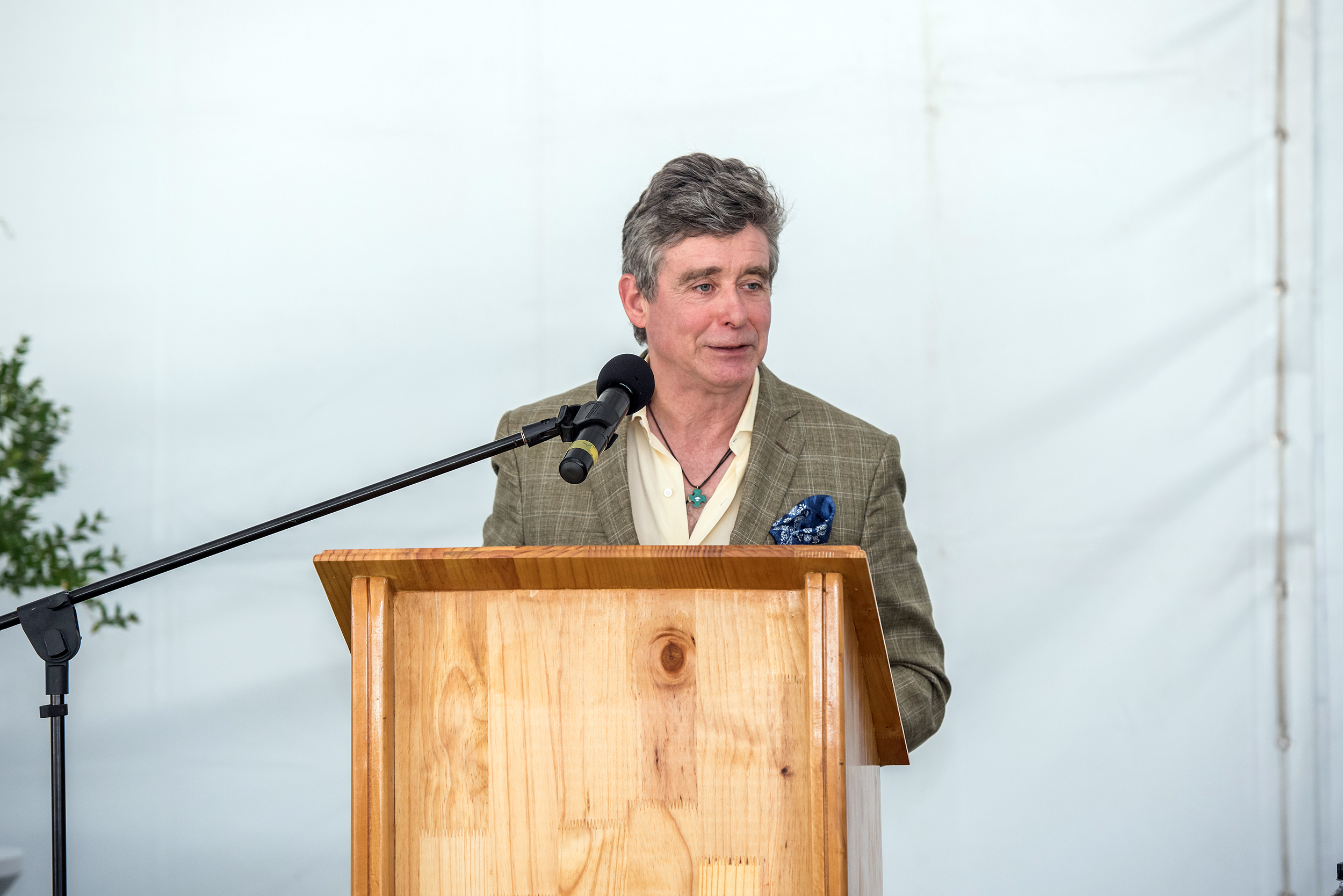 Jay McInerney at the De Wetshof Celebration of Chardonnay.