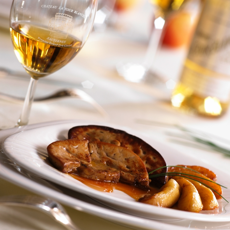 Foie gras and Sauternes. Like Jagger and Richards - match made in heaven.