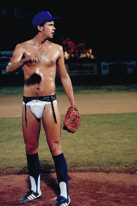 Tim Robbins, the randy pitcher in Bull Durham.