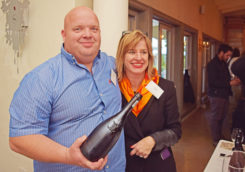Le Lude Cellarmaster Paul Gerber with Ann Ferreira, stylish marketing maven for the brand.